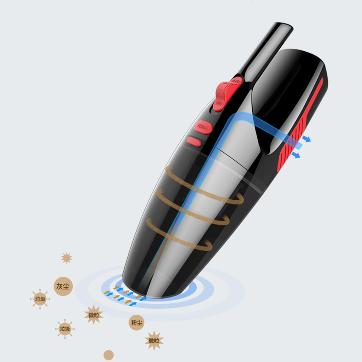 12V 120W Portable Handheld Car Auto Wet Dry Dirt Dust Duster Vacuum Cleaner