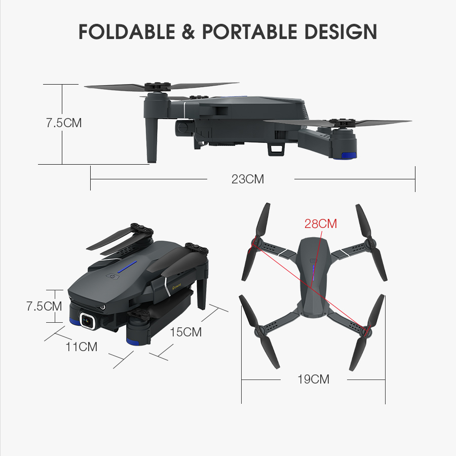 Eachine E520 WIFI FPV With 4K/1080P HD Wide Angle Camera High Hold Mode Foldable RC Drone Quadcopter RTF