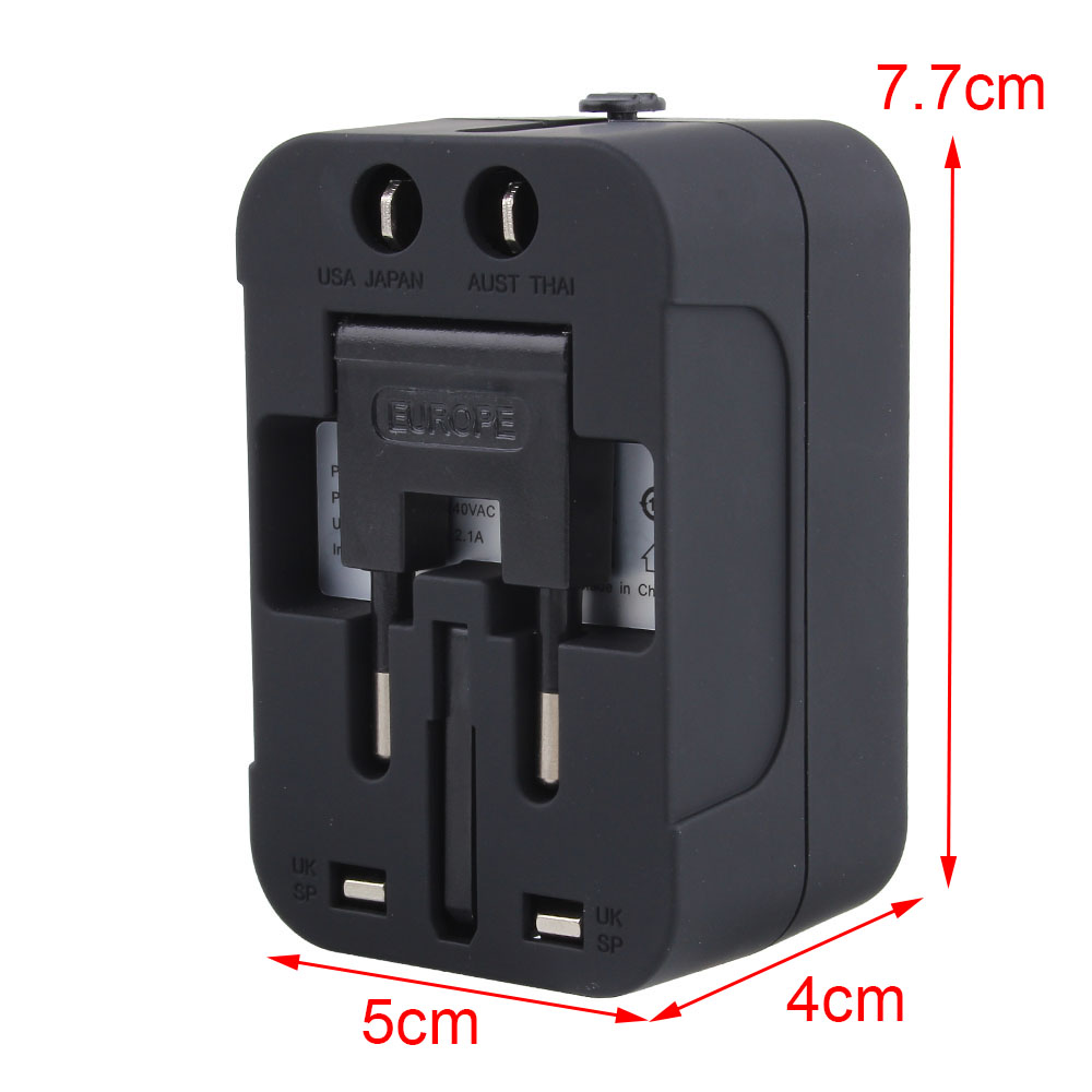 Worldwide Conversion Plug for Mobile / MP3 Travel Conversion Socket Multi-function Power Adapter