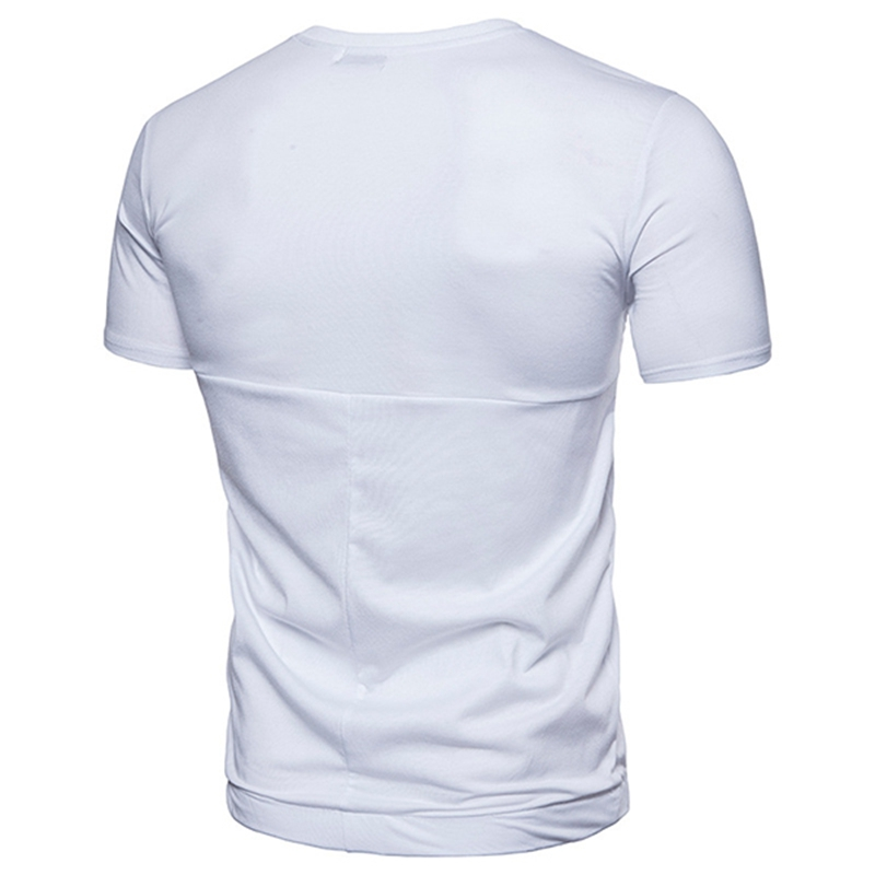 Mens Cotton Blend Comfortable Tummy Tuck Fitness T-Shirts