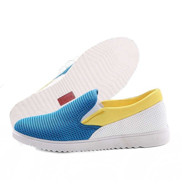 Men Flats Outdoor Fashion Mesh Breathable Soft Slip On Low Top Casual Sneakers Shoes