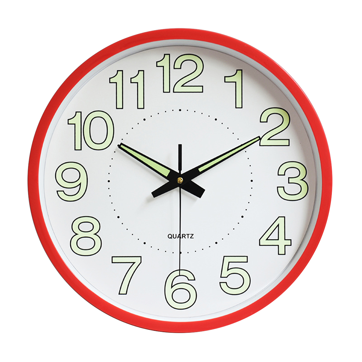 12 Inch Luminous Silent Quartz Wall Clock For Indoor Outdoor Glow In The Dark