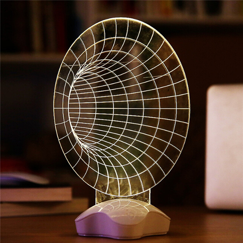 Creative Optical illusion 3D Light Office Home Decor Gift Luminous USB Led Light Desk Table Lamp