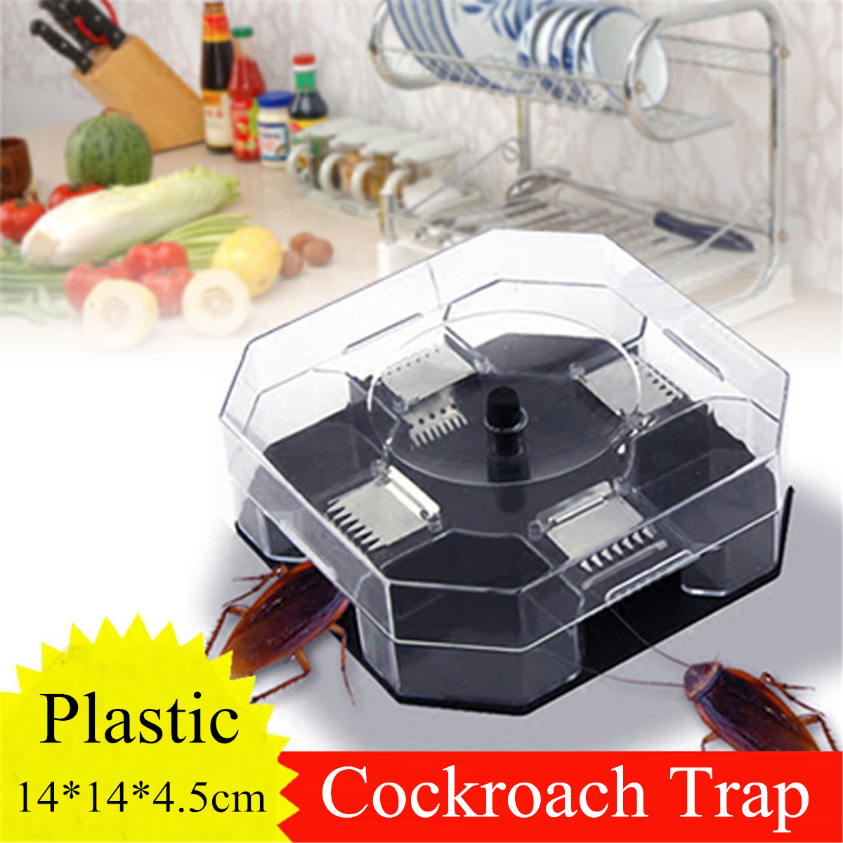 Large Cockroach Lizard Insect Trap Killer ECO Non Poison Reusable Catcher Box Snail Slug Trapper
