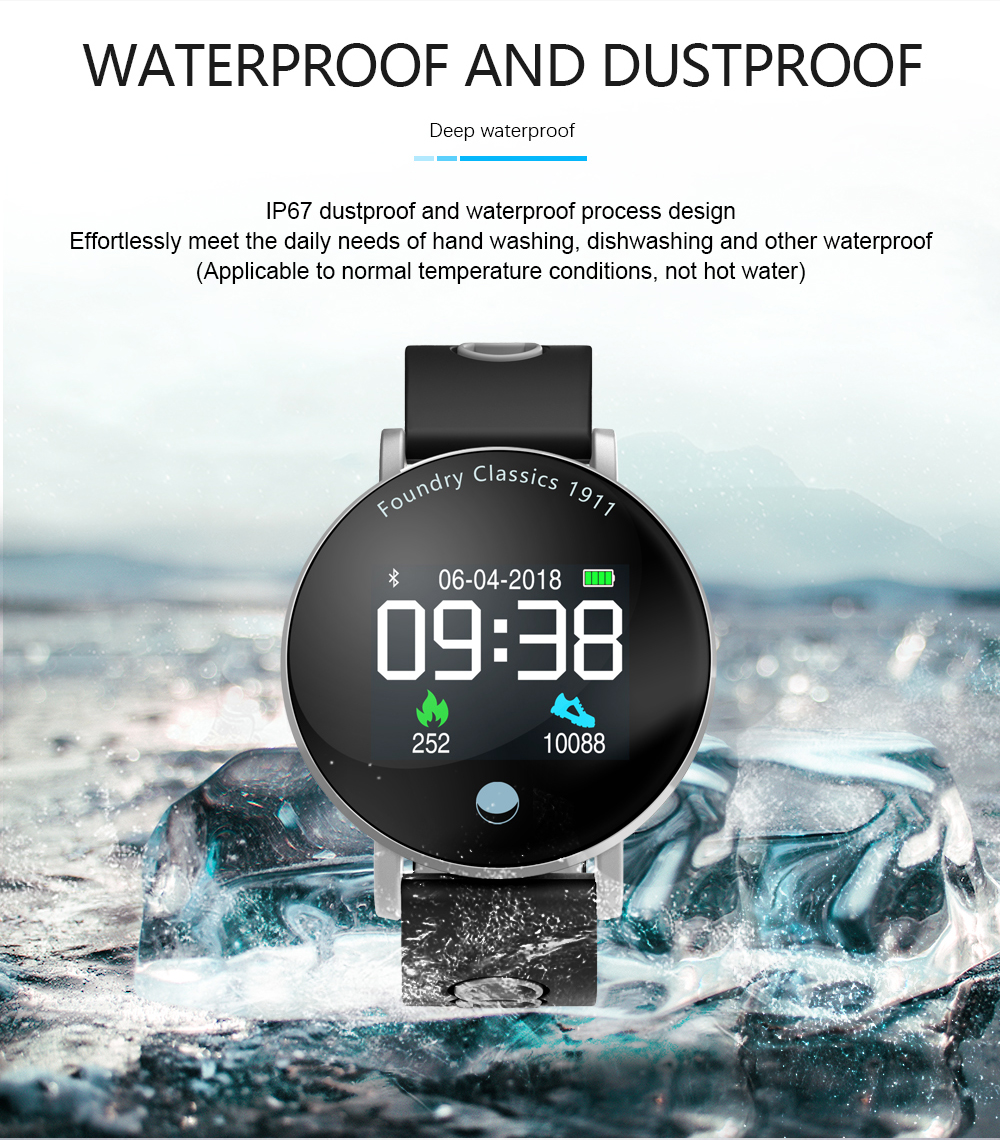 Bakeey Y6 Plus Colorful Round Display Blood Pressure Heart Rate Stopwatch Sport Mode Smart Watch