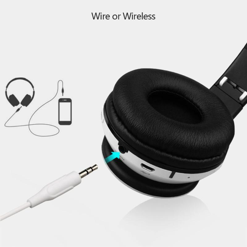 Wireless bluetooth Headphone Bass Noise Cancelling TF Card AUX Line-in Headset Earphone With Mic