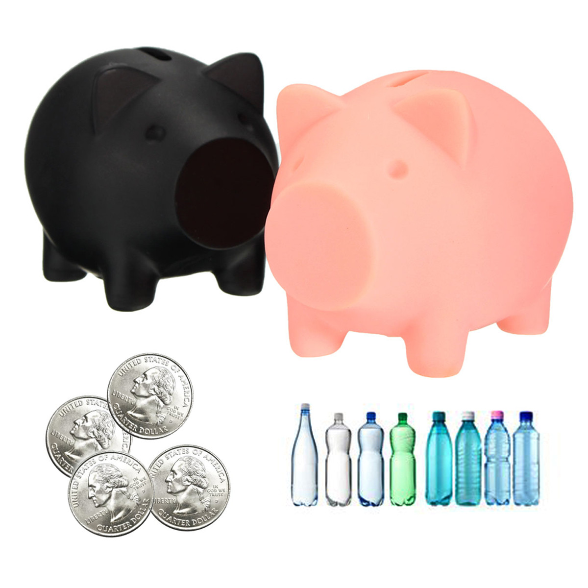 Plastic Piggy Banks DIY Bottle Caps Money Coins Collection Gift For Kids Toy