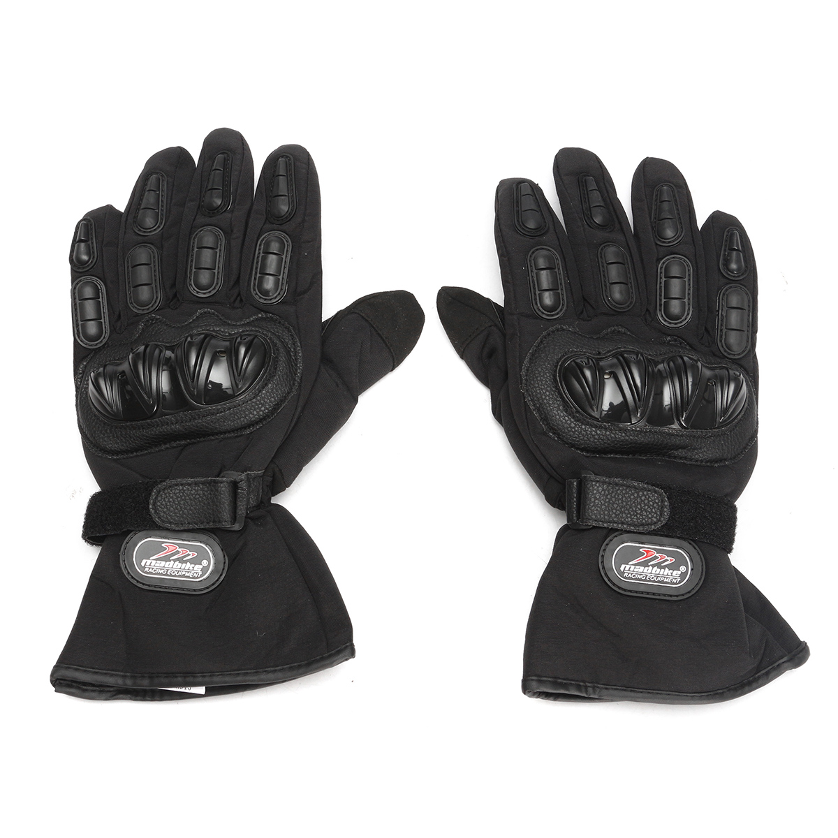 Winter Leather Waterproof Thermal Mittens Motorcycle Gloves M-2XL