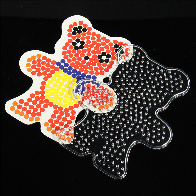 Pegboards Jigsaw Cultivate Children Puzzle Template For Perler Beads 6 Styles