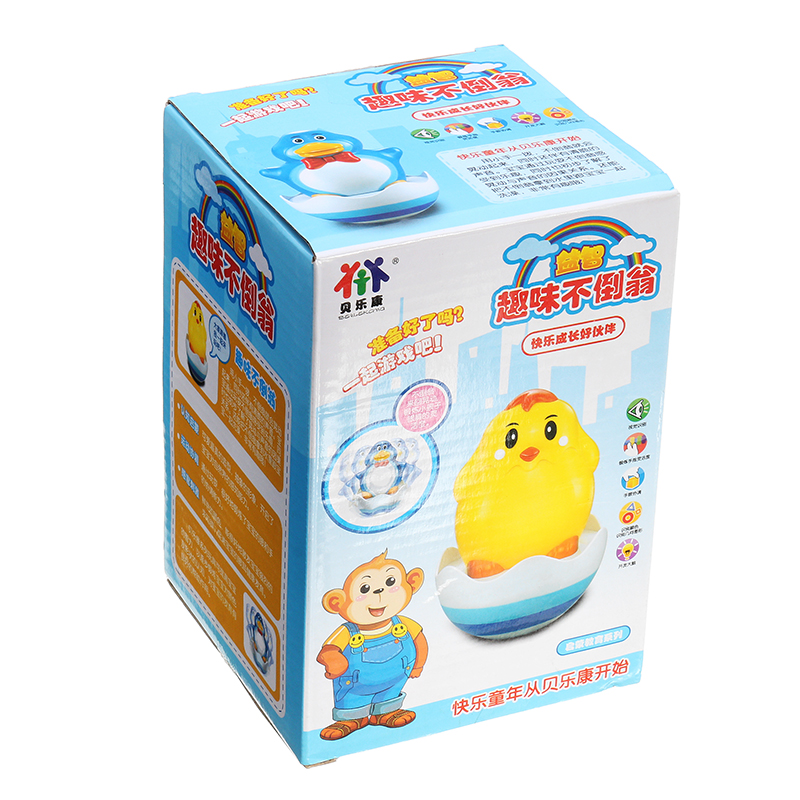 Tumbler Duckling Baby Animal Bath Toy Kids Early Education Baby Shower Water Toy In Bathroom