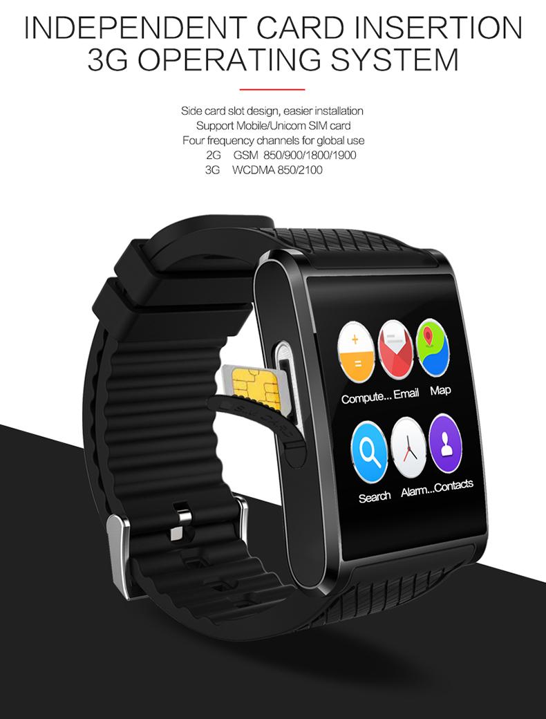 X11 Smart Watch Telefon SIM Karte 3G WIFI GPS Kamera Video Musik Anruf Armband