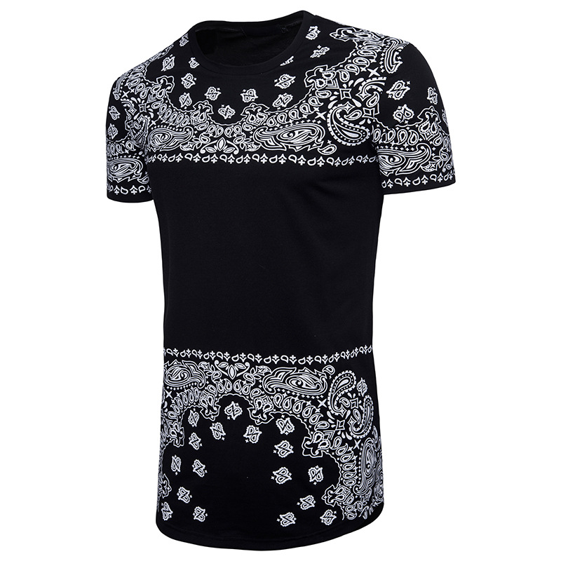 Men's Fashion Printing Hip-Hop Long Style T-Shirts