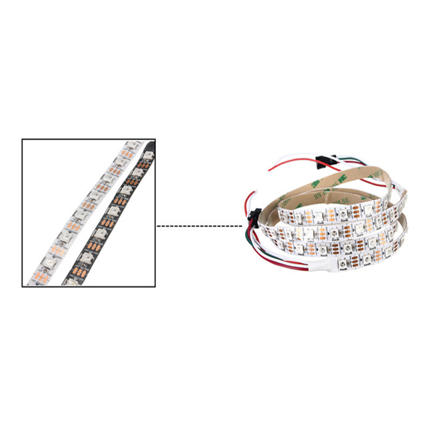 1M WS2812 IC SMD5050 Waterproof Dream Color RGB LED Strip Light Lamp Individual Addressable DC5V