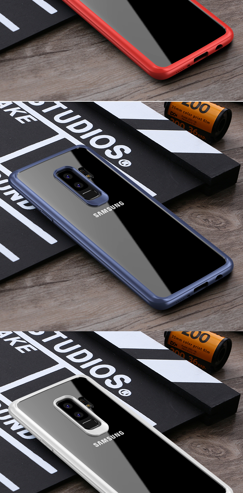 Bakeey Transparent Acrylic Soft TPU Case for Samsung Galaxy S9/S9Plus