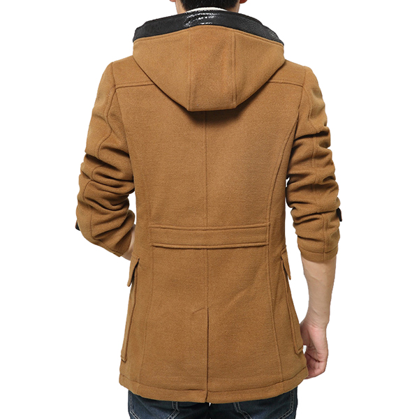 Thick Warm Woolen Windcoat Horns Button Trench Coat