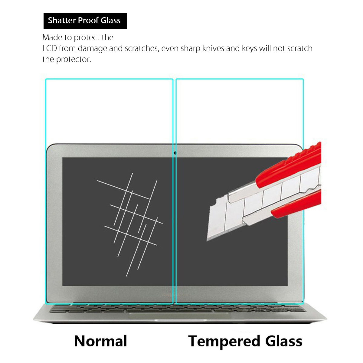 Explosion Proof Ultra Thin Toughened Tempered Glass Screen Protector For Macbook Pro Retina 13''