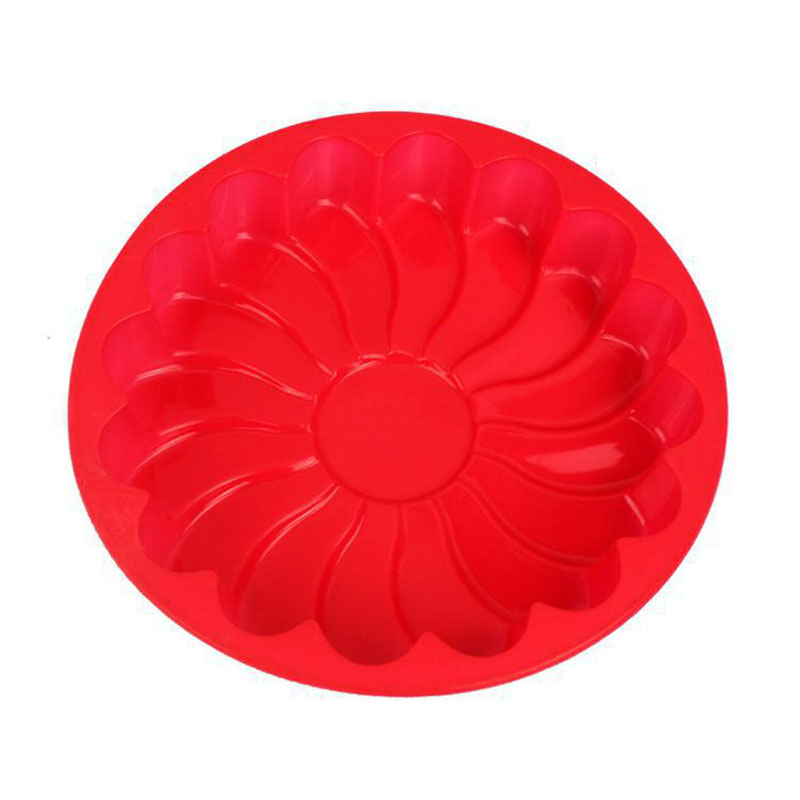 DIY 3D Sunflower Form Silicone Mold Fondant Cake Baking Mold Cake Decorating Tools Color Random