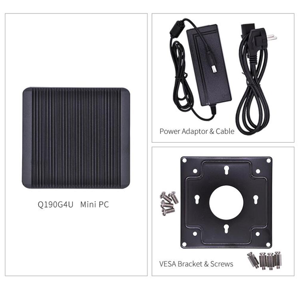 QOTOM Mini PC Q190G4 Intel Trail J1900 Quad Core 4GB RAM 64GB ROM With 4 LAN Port Pfsense as Router Firewall