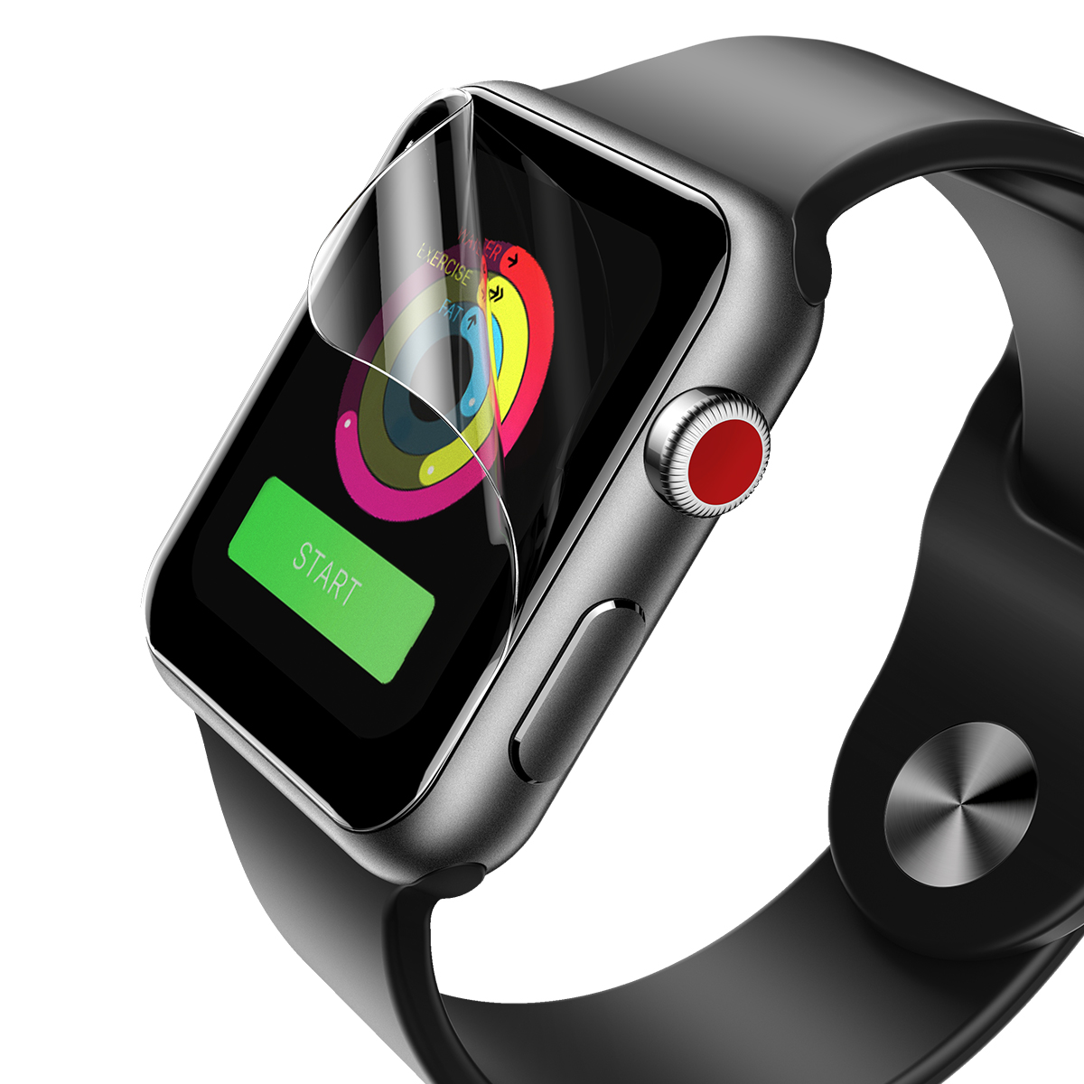Rock Hydrogel Watch Screen Protector For Apple Watch Series 2/Series 3 42mm/38mm Self-repairing Bubble Free