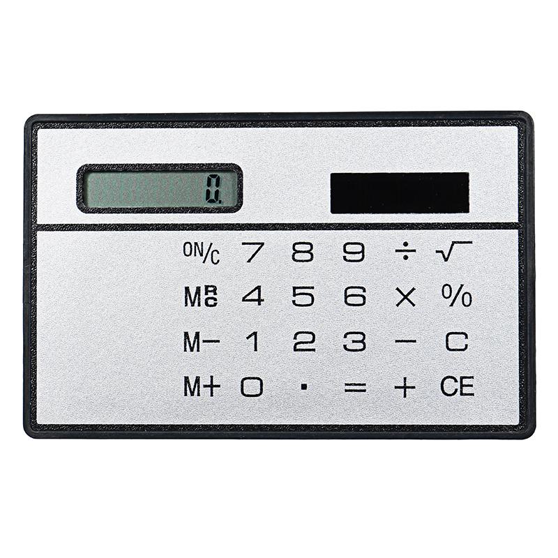 Portable Scientific Calculator Bank Card Style Handheld Solar Calculator Wallet Storage Calculators