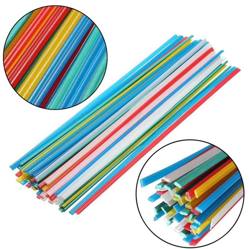 50PCS Plastic Welding Rods PPR PP PVC Plastic Welding Sticks with Corrosion Resistance