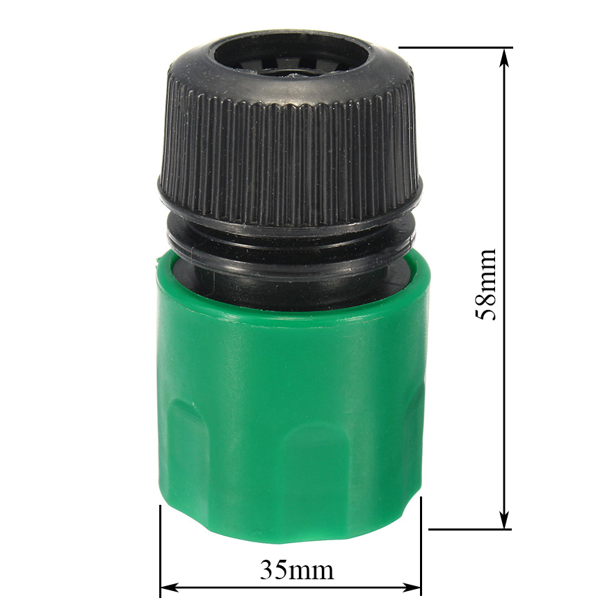 1/2 Inch Plastic Water Hose Pipe Quick Connector Garden Tap Washer Spayer Coupler Green