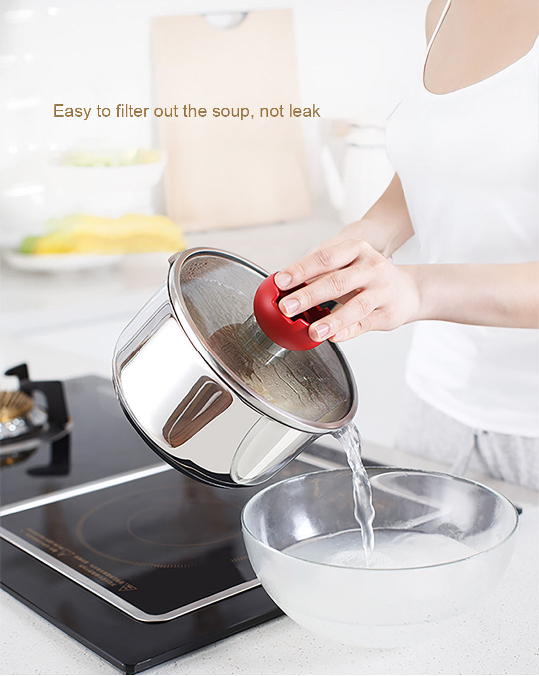 XIAOMI YIWUYISHI Non-coating Small Stainless Steel Milk Stock Pot Healthy and Safe Made Silver