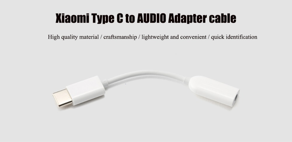 Original Xiaomi USB3.1 Type C to 3.5mm AUX Audio Female for Samsung S8 Mi6
