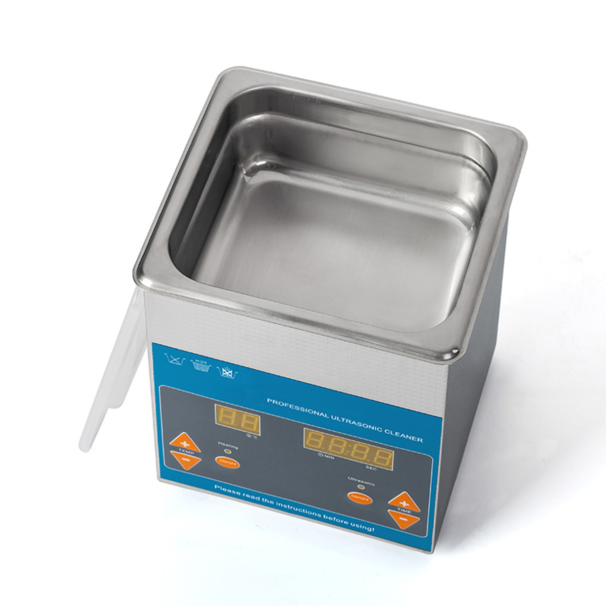 Digital Ultrasonic Cleaner Large Capacity Stainless Steel with Heater Timer for Electronic Tool