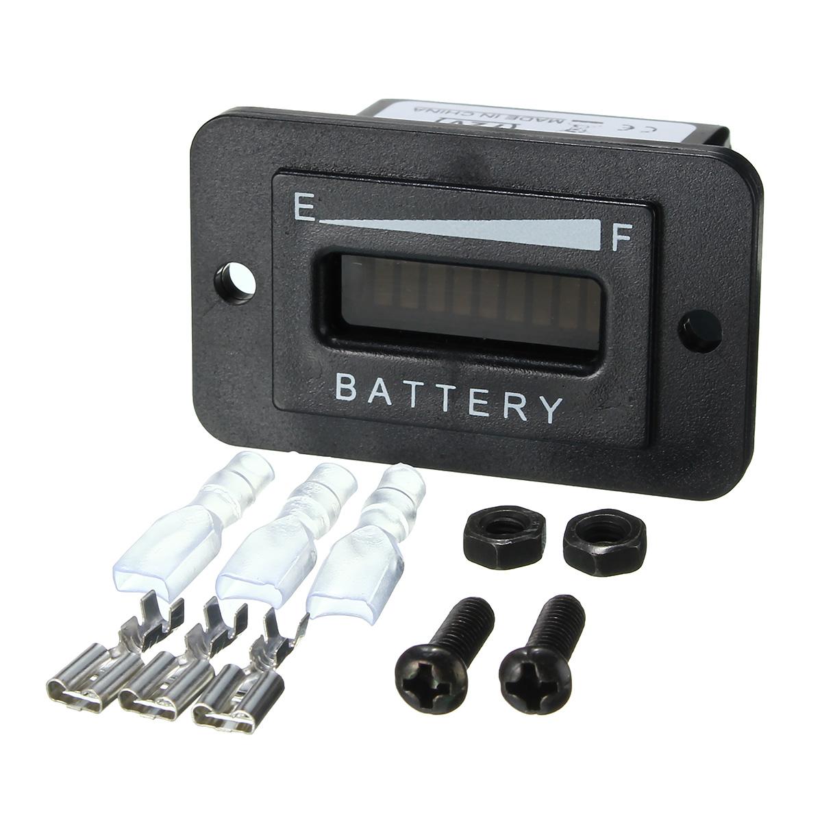 12/24/36/48/72V LED Battery Indicator Gauge for EZGO Club Car Yamaha Golf Cart