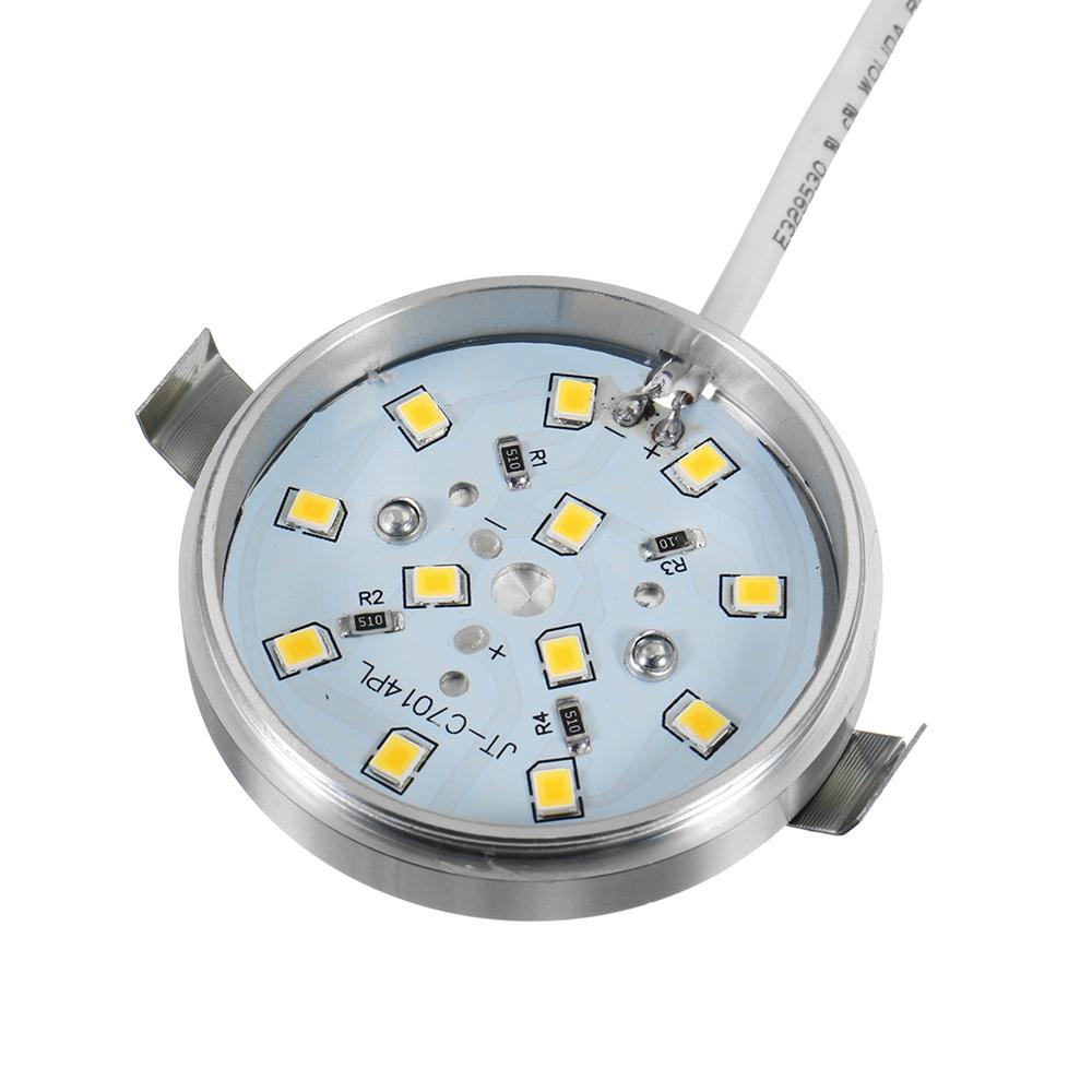4pcs Silver Interior RV Marine LED Recessed Ceiling Lights Car Dome Lights Cabinet Light DC12V