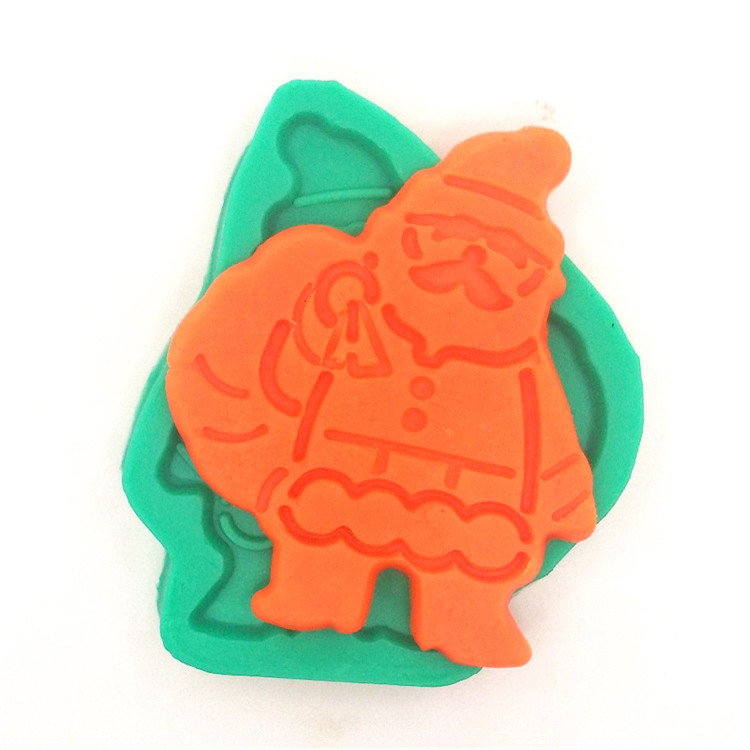 Silicone Christmas Santa Cake Chocolate Biscuit Mold Fondant Pastry Mould Decoration Baking Cake