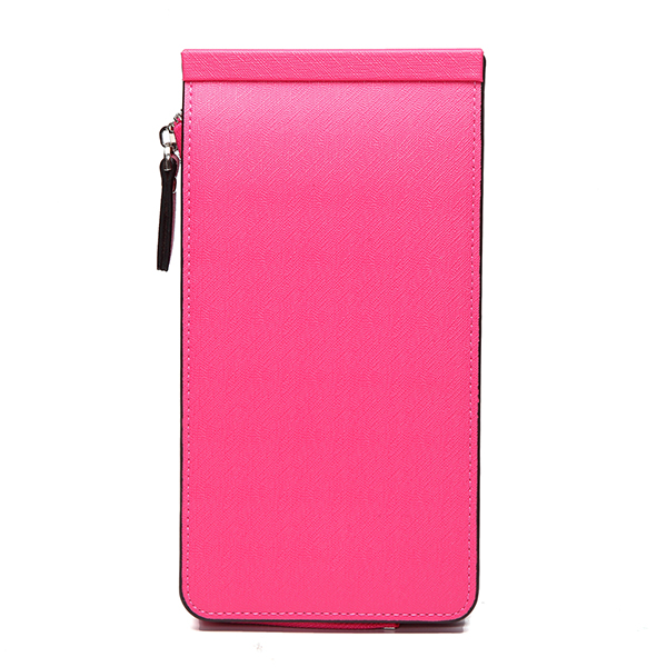 Women Men 26 Multi Card Holder Ultra Thin PU Leather Zipper Business Card Case 5.5'' Phone Bags