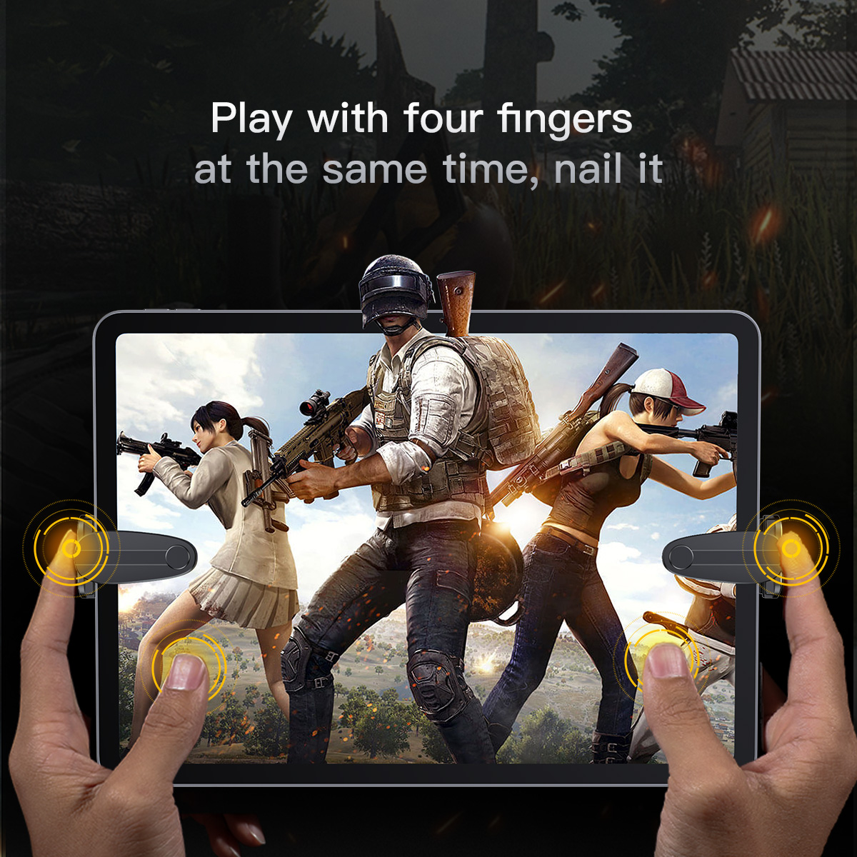 Baseus PUBG Mobile Controller Trigger Gamepad Button Joystick for iPhone X XR Note 9 9s Mi8 iPad