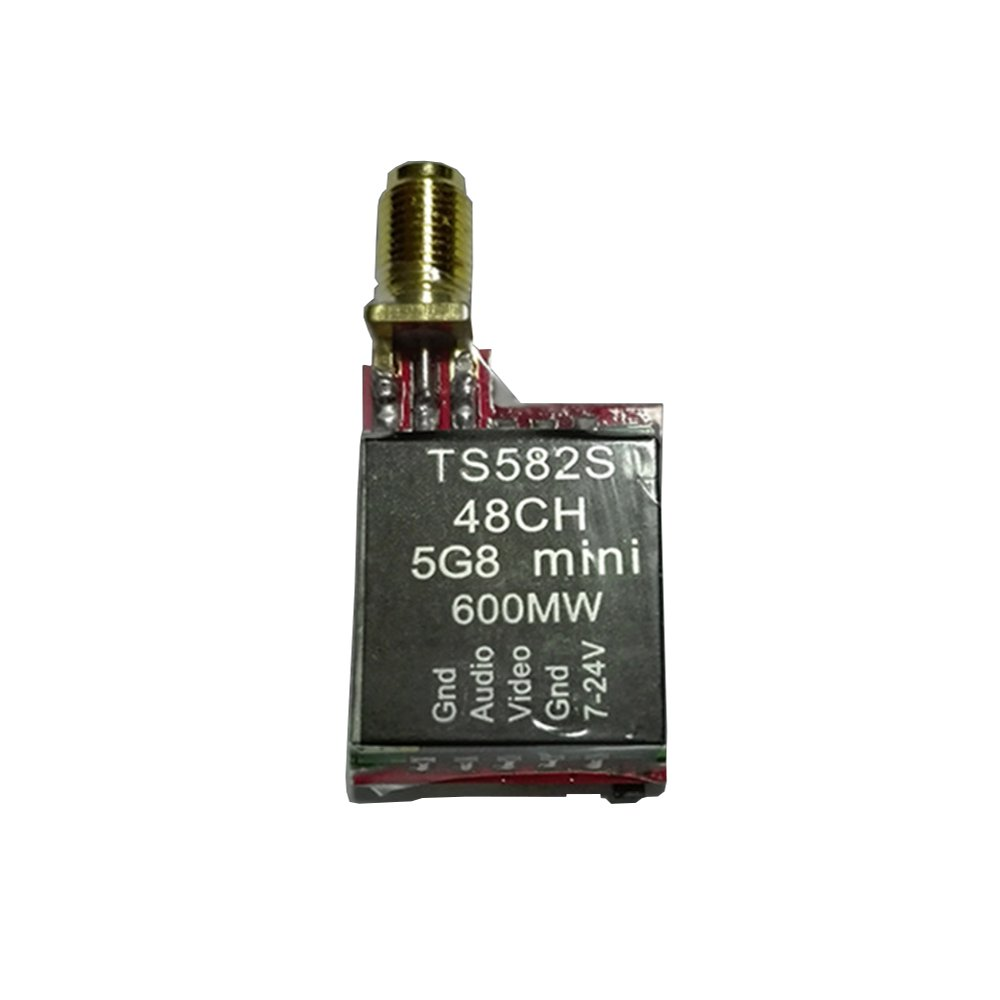 TS582S 5.8G 48CH 25mW/200mW/600mW Switchable Mini FPV Transmitter With Digital Display For RC Drone