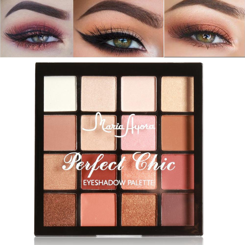 MARIA AYORA 16 Colors Eye Shadow Palette Matte Shimmer