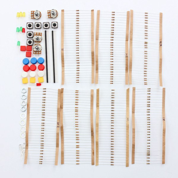 10Pcs Electronic Parts Component Resistors Switch Button Kit For Arduino
