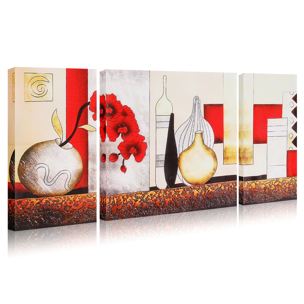 pics of bedrooms modern 3pcs vase modern unframed canvas painting decorative 16647
