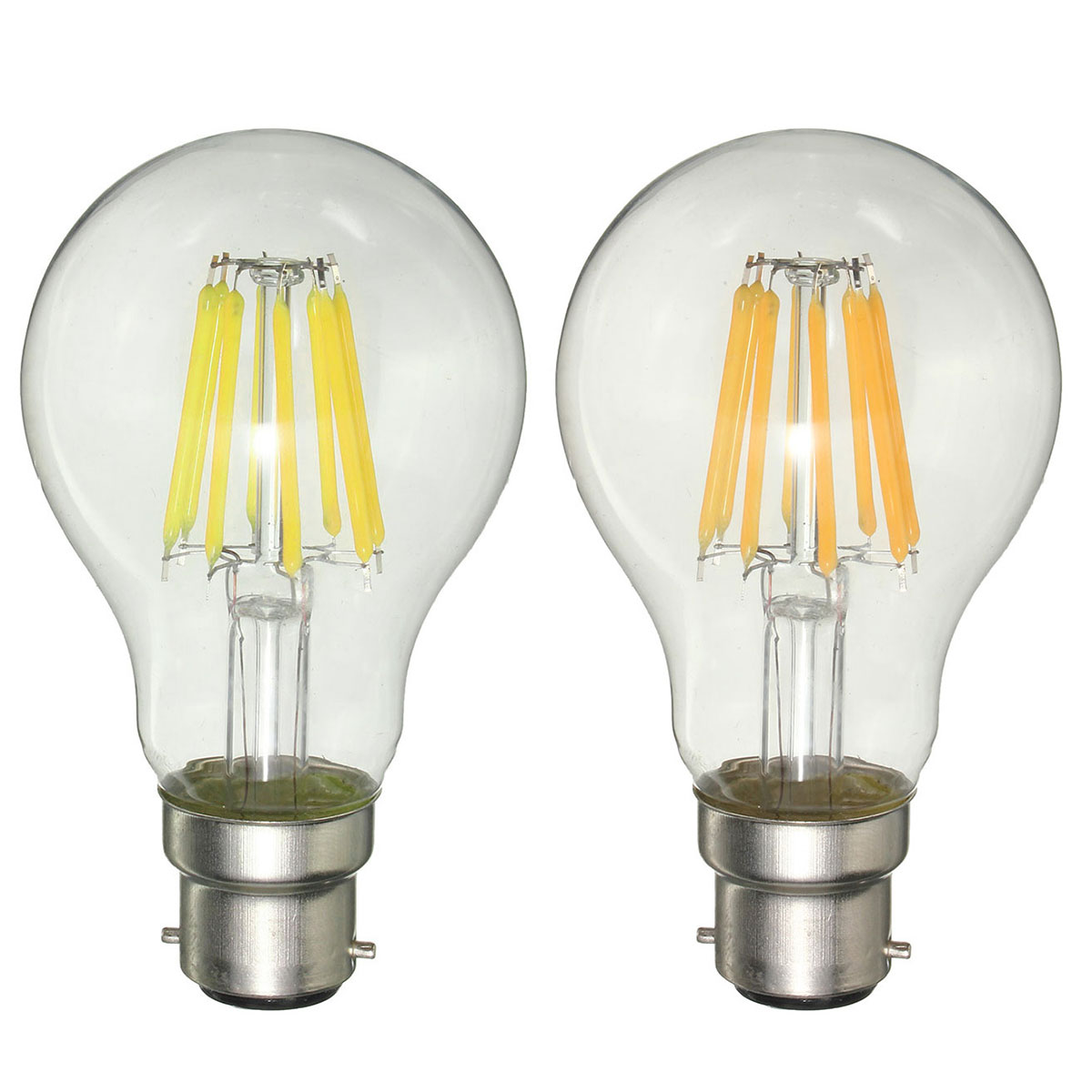 Dimmable A60 B22 8w Pure White Warm White Cob Glass