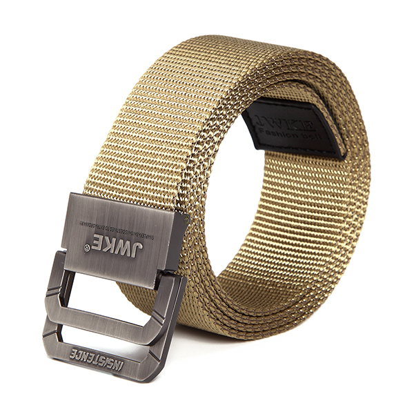 130CM Mens Canvas Double Loop Belt Outdoor Climbing Simple Military Tactical Nylon Belts