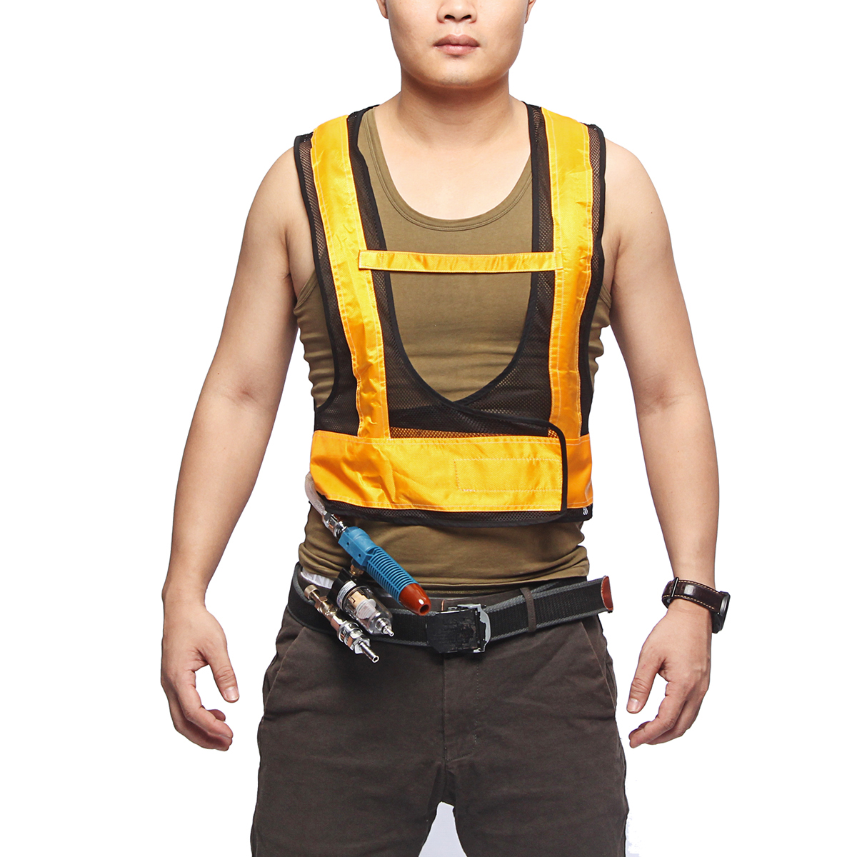 Air Conditioner Waistcoat Welding Steel Air Compressed Cooling Cooler Vest