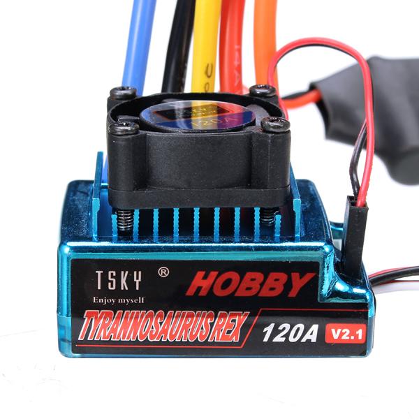 TSKY 120A 1/10 1/8 6v ESC Senseless Brushless/Sense Brushless RC Car Part
