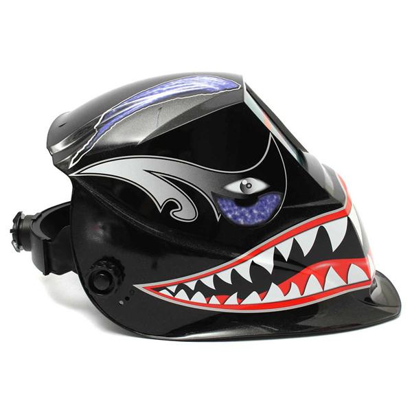 Shark Mouth Solar Auto Darkening Welder Mask Electrowelding Welding Helmet