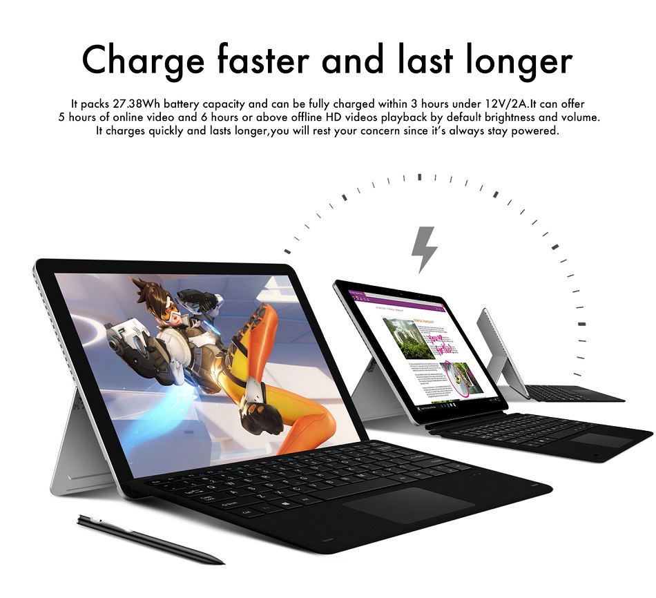 Original Box CHUWI Surbook Mini 64GB Intel Apollo lake N3450 Quad Core 10.8 Inch Windows 10 Tablet