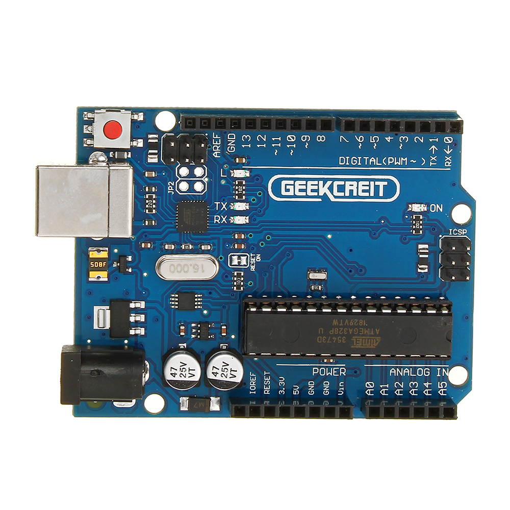 Geekcreit® UNO R3 ATmega16U2 AVR Development Module Board For Arduino Without USB Cable