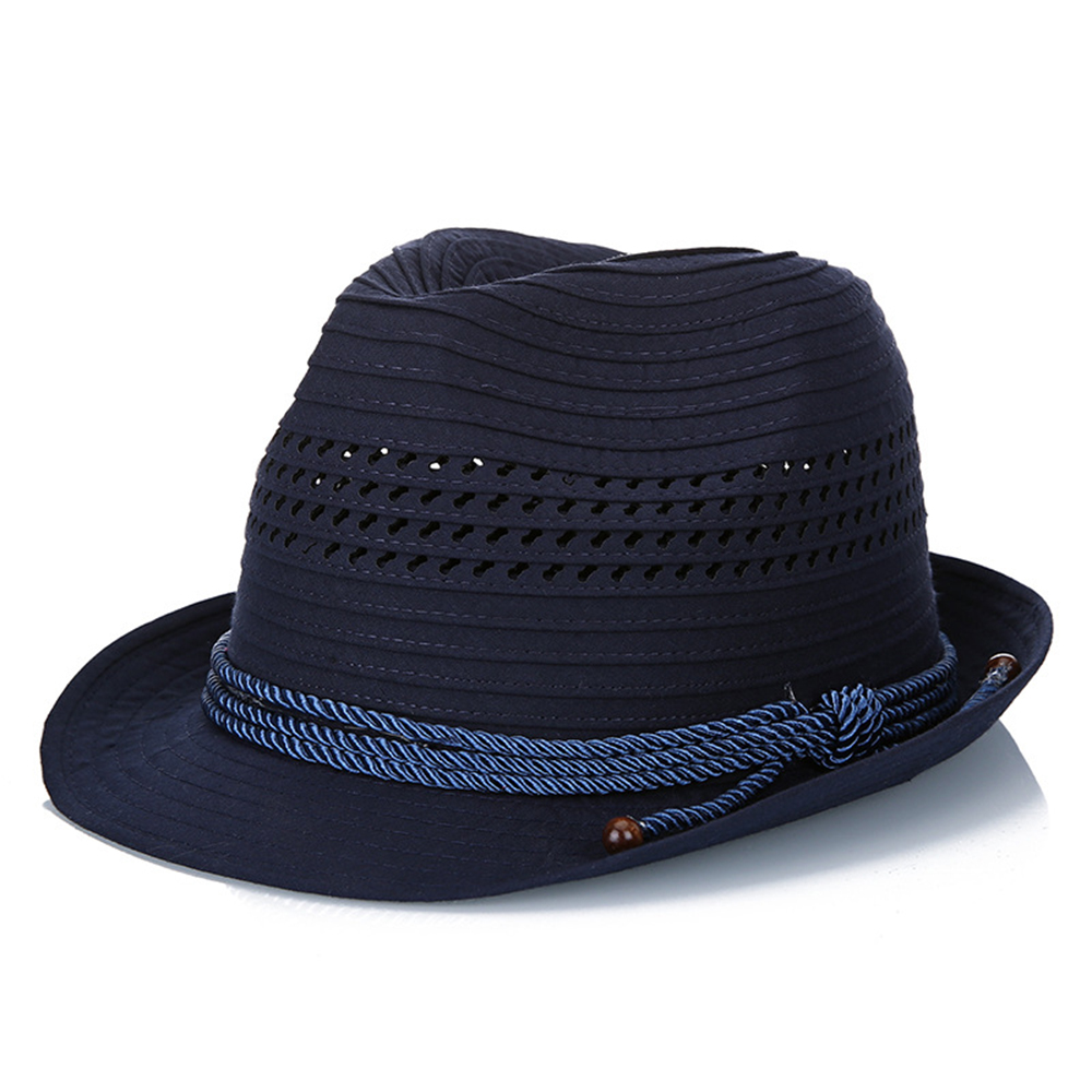Mesh Hollow Out Bucket Hat Outdoor Visor Stripe Knight Caps