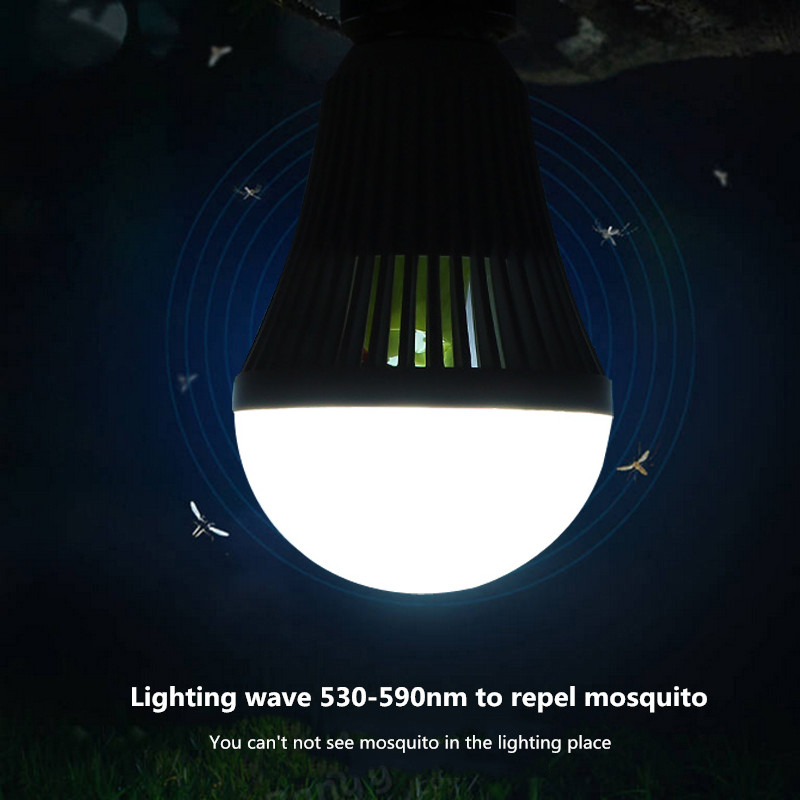 E27 Mosquito Repeller Insects Killer Camping Tent Emergency LED Light Bulb Outdoor AC85-265V