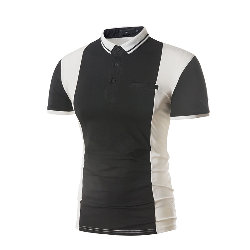 Men's Summer Hit Color Short-sleeved Golf Shirt