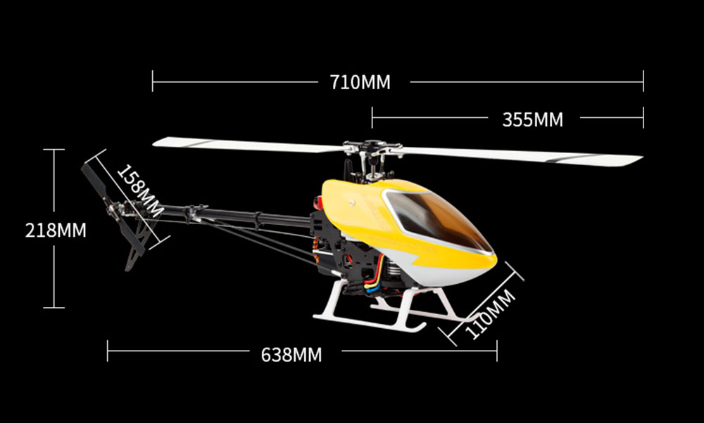 JCZK 450 DFC 6CH 3D Flying Flybarless RC Helicopter Super Comber - Photo: 7