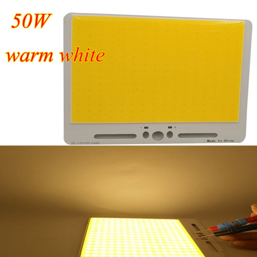 50W Warm White/ White High Power COB Led Chip for DIY Flood Light Spotlight Down Light DC12-14V
